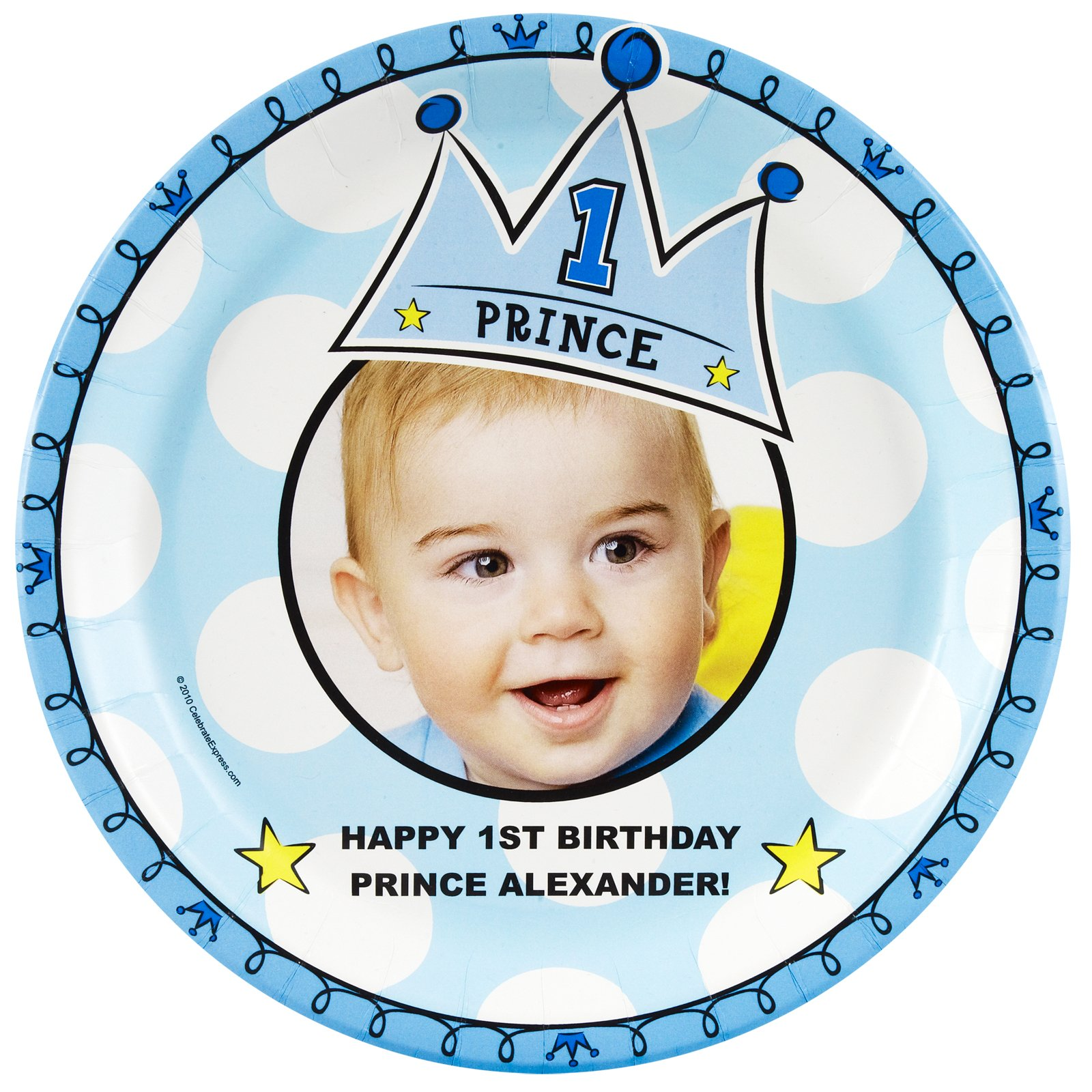 Birthdayexpress creates new online department for first birthdays lil prince 1st birthday personalized party supplies filmwisefo