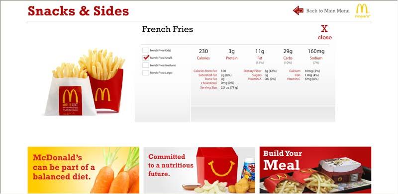 Qa Graphics Creates Fast Food Nutritional Kiosk