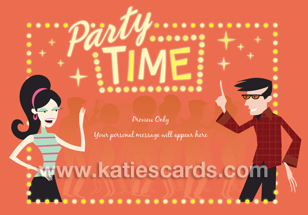 Brand New Groovy Party Invitation Ecard From Katiescards