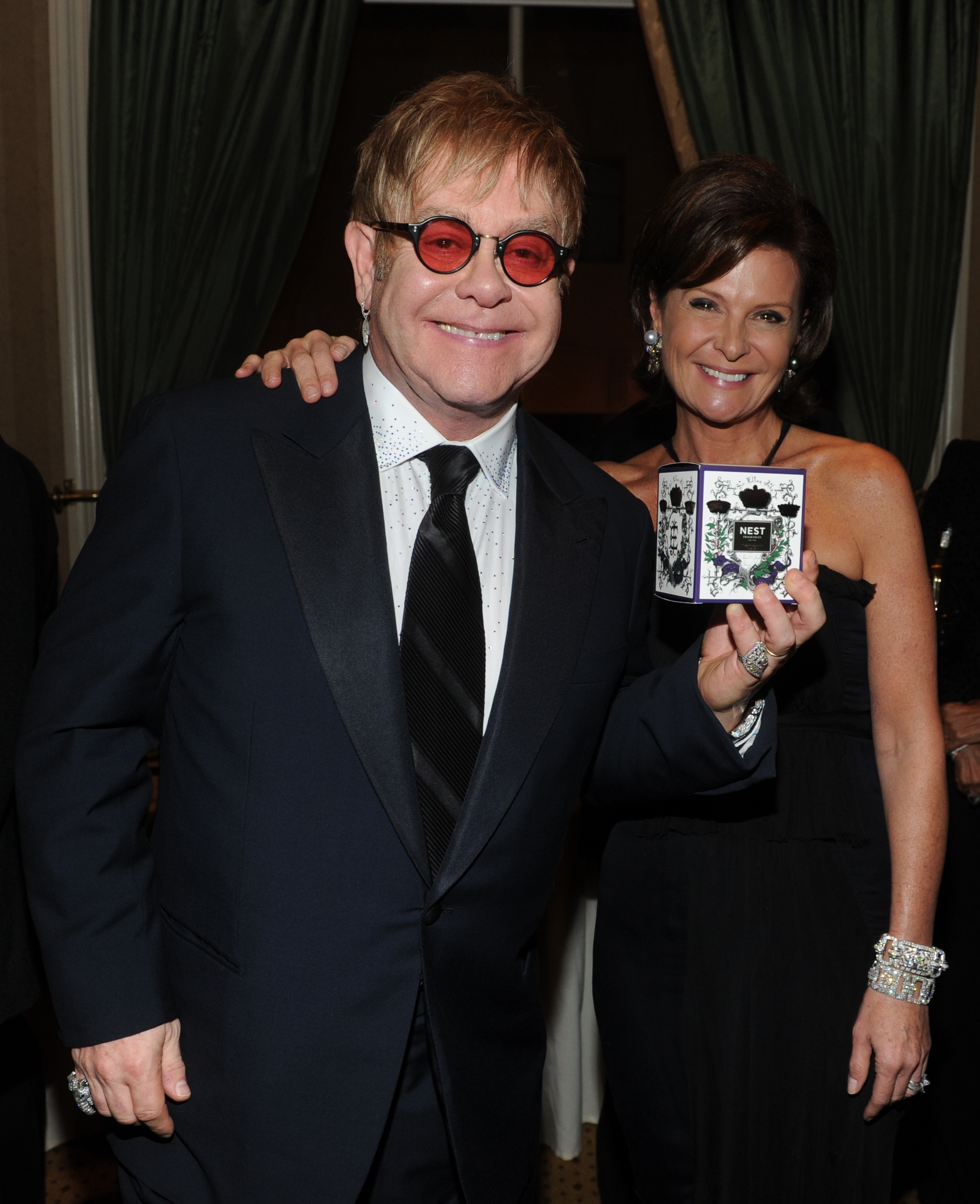 Sir Elton John and Laura Slatkin