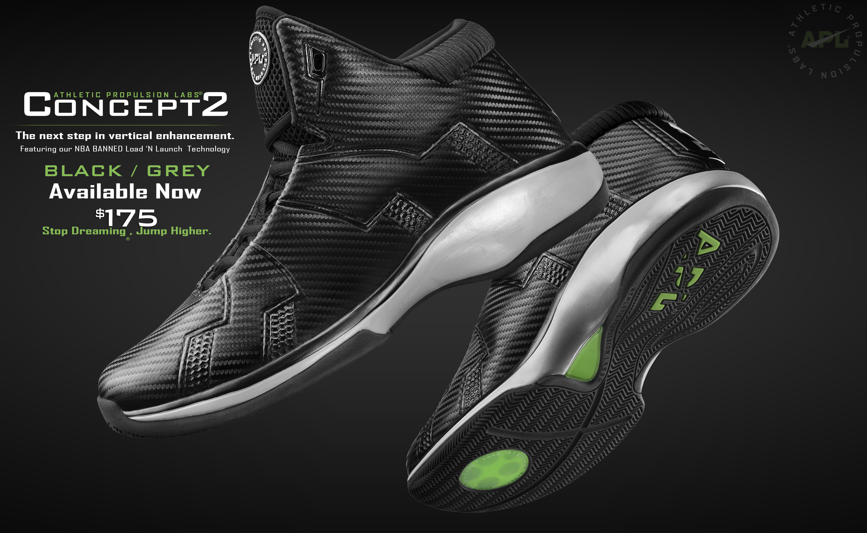best website 7eff8 02047 Athletic Propulsion Labs Concept 2 Basketball Shoes Now Available in Black GreyAPL  Concept 2 Basketball Shoes Now Available In Black Grey ...