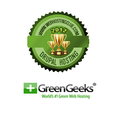 2012 Best Drupal Hosting - GreenGeeks