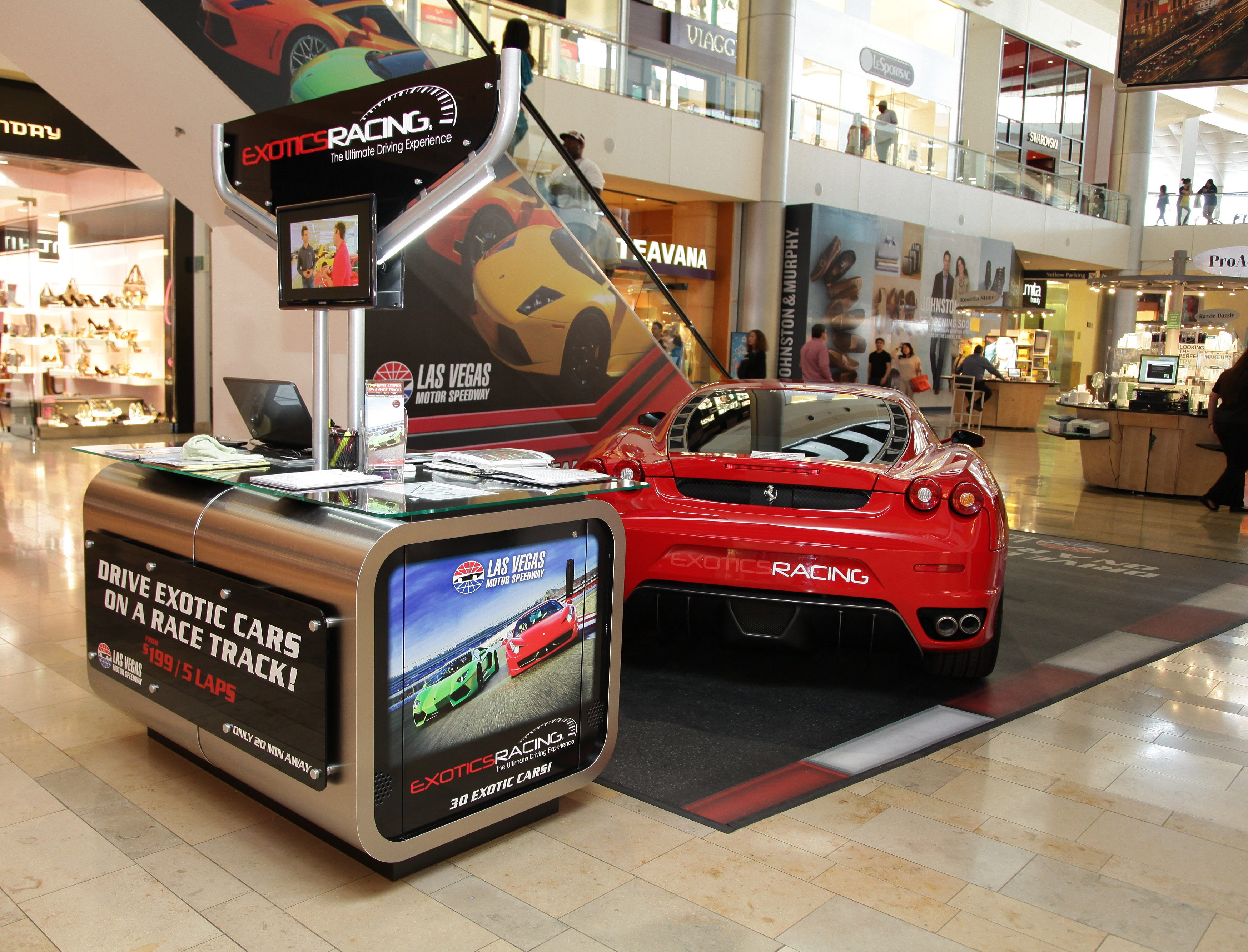 Exotics Racing Launches Booth At Fashion Show Mall Offers Driving