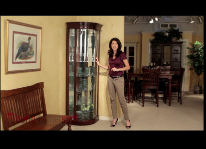 This frame grab from one of CurioCabinetSpot.comu0027s Philip Reinisch videos shows the Auberge corner curio cabinet. & Curio Cabinet Spot Announces New Product Videos for Select Philip ...