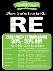 Sale Information for Earth Week Extravaganza at Thrift Town