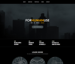UX Design Firm - FOR HUMAN USE