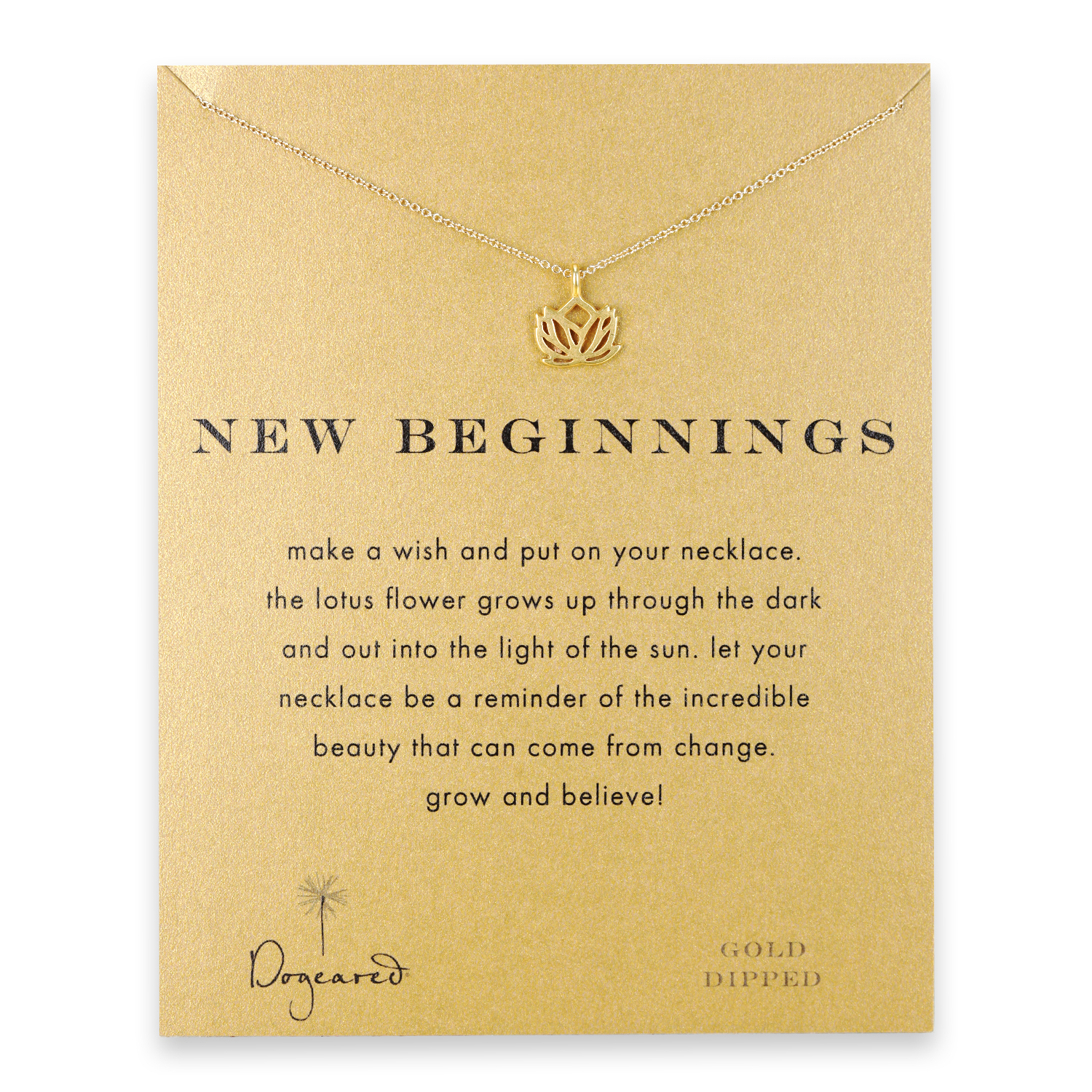New Beginnings necklace with gold dipped lotus Graduation Gifts from Dogeared