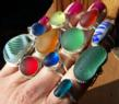 Santa Cruz Sea Glass one-of-a-kind Rings