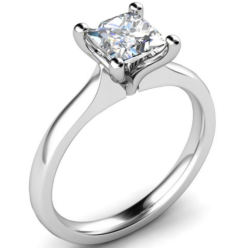 Product U0027PC123u0027 OnlineTulip Shaped Princess Cut Diamond Engagement Ring ...