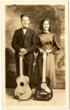 Antique Photo  Couple with Guitars
