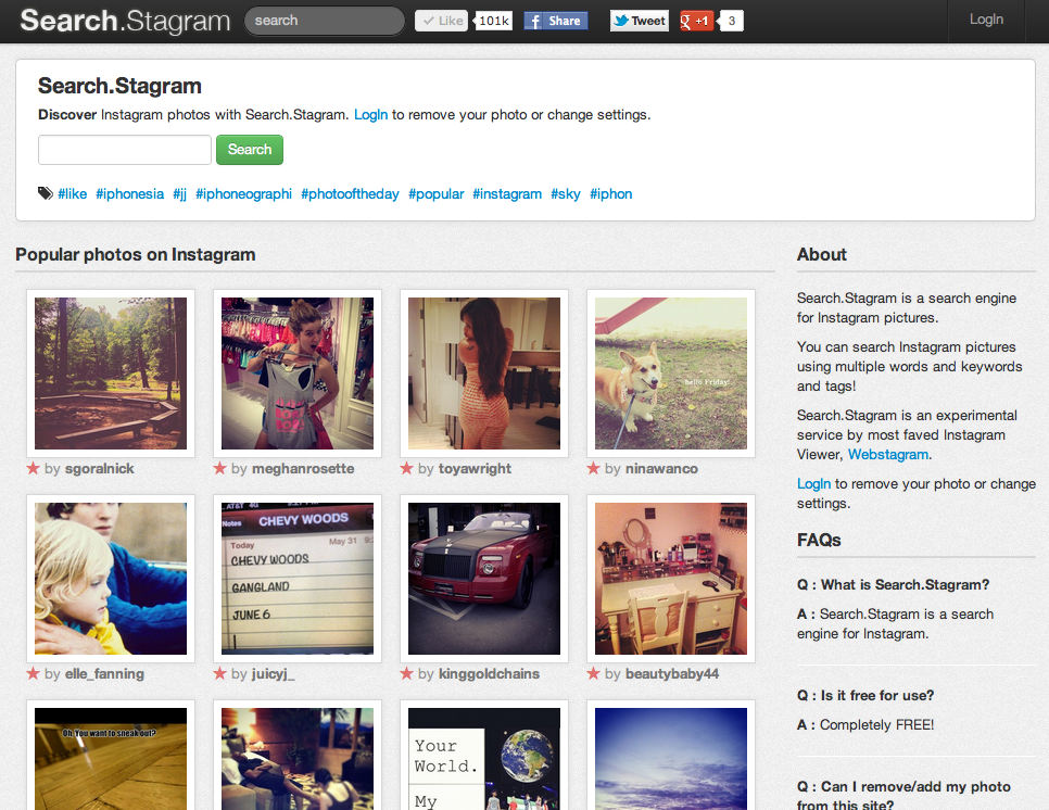 Webstagram Releases Instagram Search Engine Called Search Stagram
