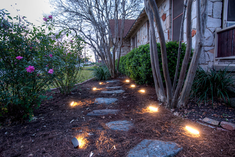 Radiance Landscape Lights illuminate a walkway Radiance LED ... - DEKOR™ Enters The Landscape Lighting Market With New Radiance LED