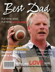 Best Dad Personalized Magazine Cover - Unique Father's Day Gift