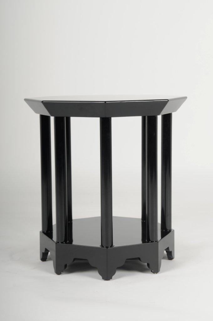 High Gloss Black Lacquer Side Table