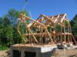At New Energy Works Timberframers the same people that cut joinery on a frame also raise it, the company is a firm believer that the intimate knowledge required to produce quality work should accompany the project to the site.