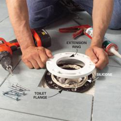 Roughing In A Toilet Flange Any Homeowner Can Do This