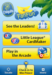 Chiquita's FanFun Mobile App Powered with AppWidgets by FunMobility