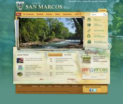 San Marcos website powered by Vision Internet