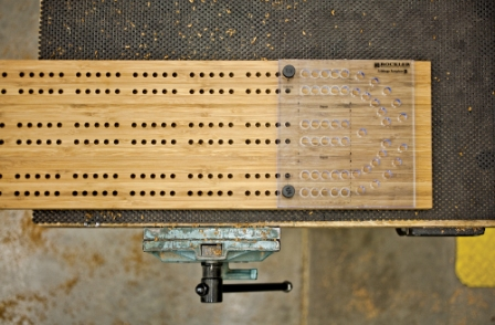 The Indexing Pins Allow You To Line Up Templates In Order Create Tracks Middle Of Board Rockler New Cribbage