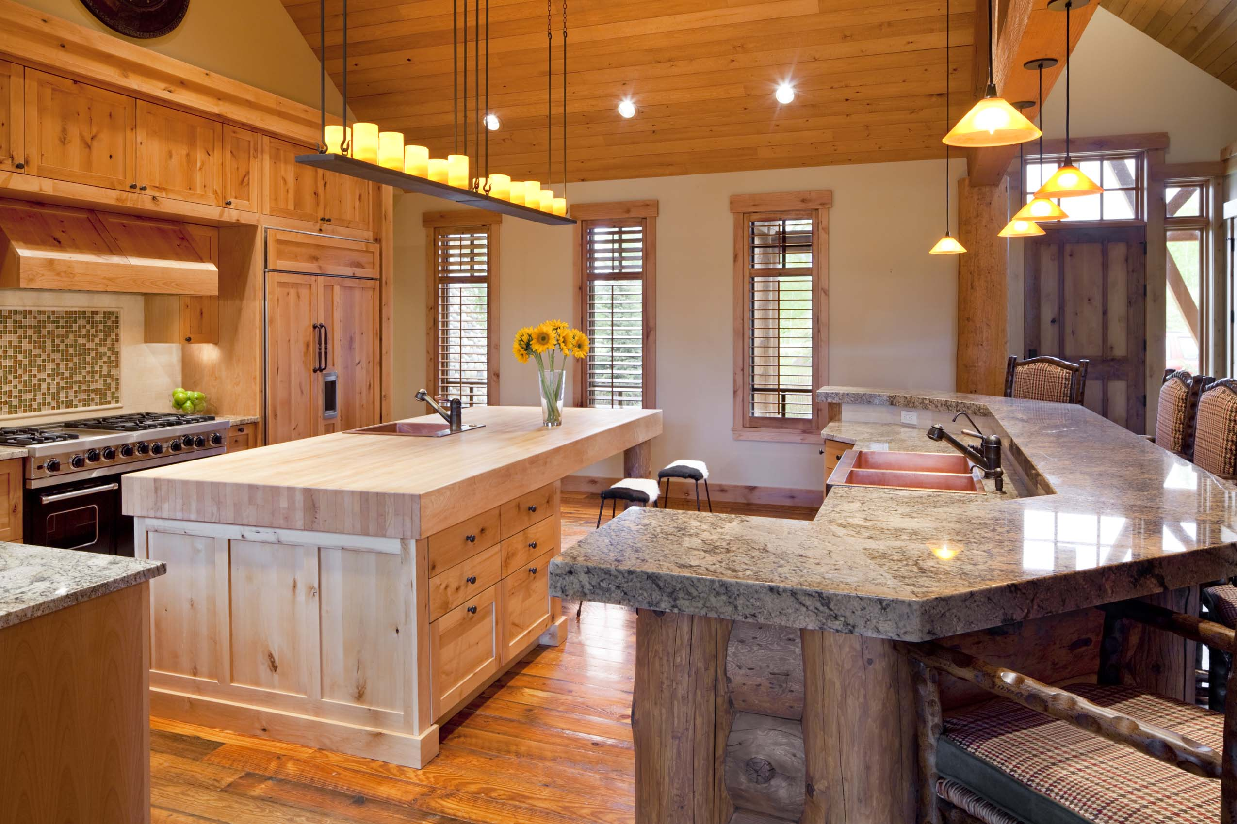 Grand Estates Auction Company Offering 32 Acre Woody Creek Luxury Retreat  At Absolute Auction On July 10th.Gourmet Kitchen At Woody Creek Mountain  Estate ...