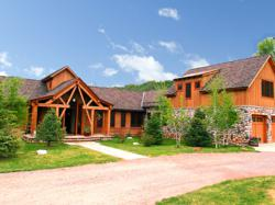 Exterior of Woody Creek mountain estate absolute auction.