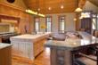 Gourmet kitchen at Woody Creek mountain estate absolute auction.