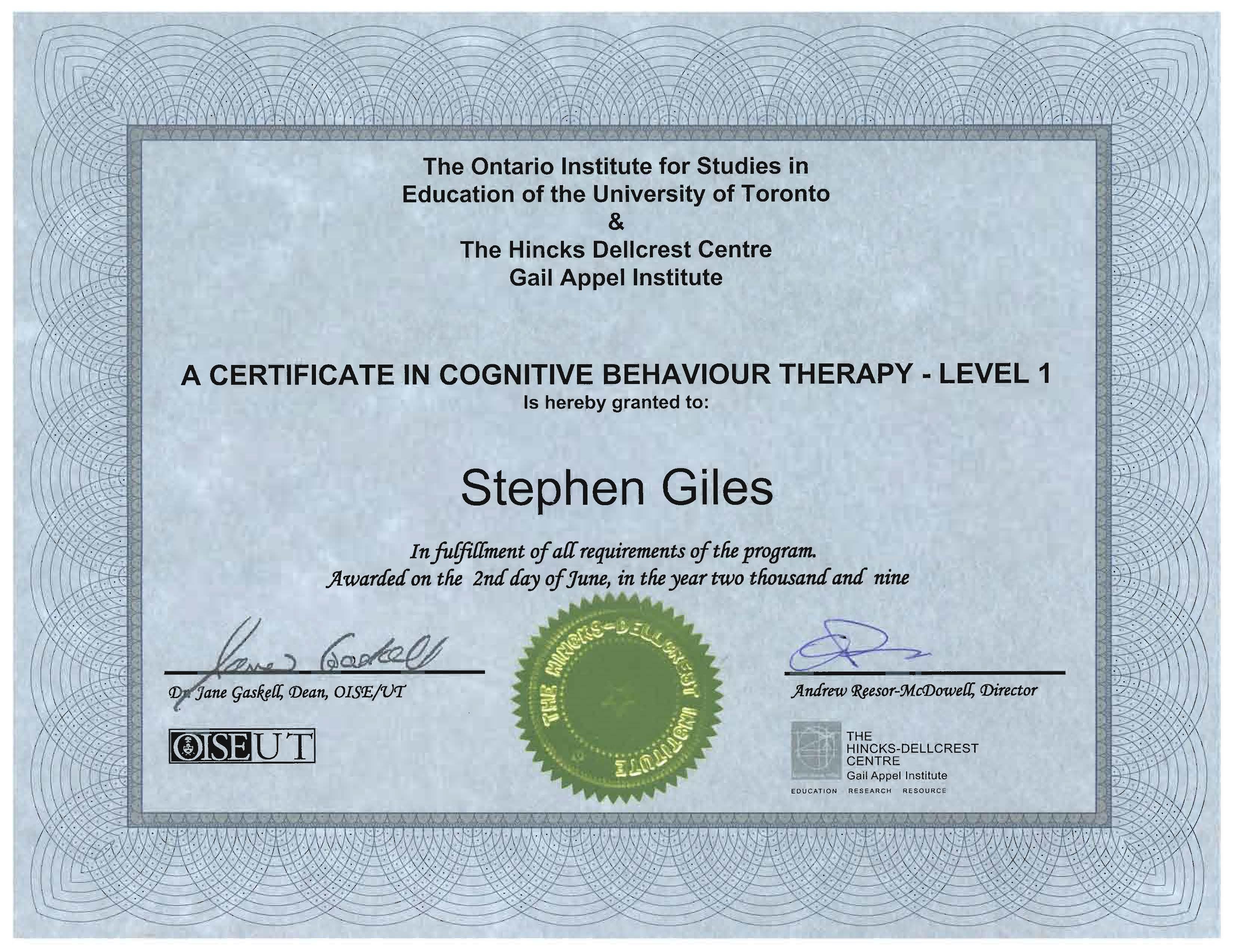 Cognitive Behavioural Therapy (CBT) Diploma Course ...