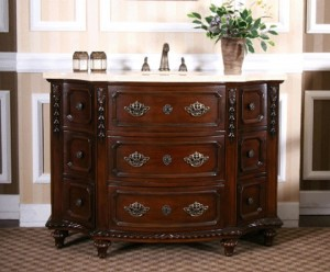 Antique Cherry Wood Bathroom Vanity From Legion Furniturew5295