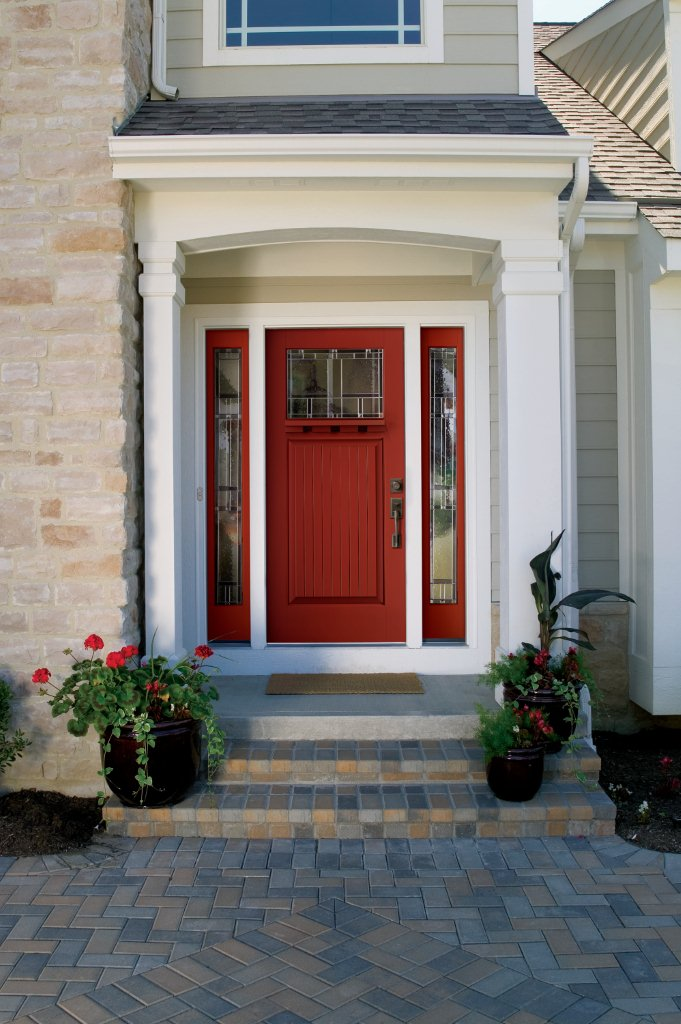 Therma Tru Fibergl Smooth Star Entryway With Decorative Gl