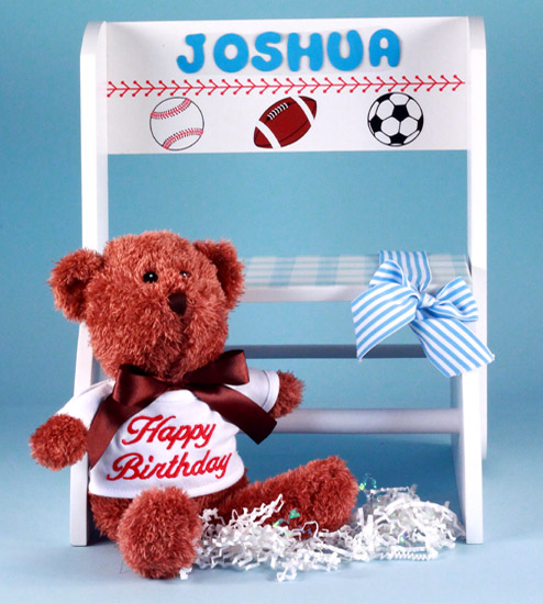 New one step up step stool baby gifts introduced by first birthday personalized step stool baby boy gift negle Choice Image