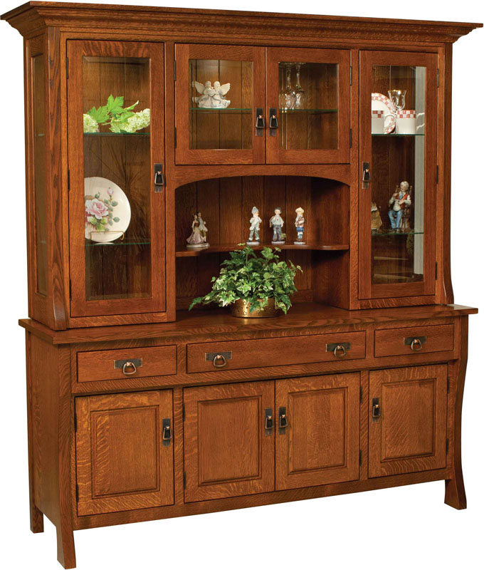 Custer Dining Room HutchSolid Wood Amish Buffet And Hutch