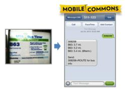 MTA Bus Time, B63 flow powered by Mobile Commons