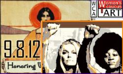 Women's Caucus for Art Honoring Women's Rights conference and exhibition logo