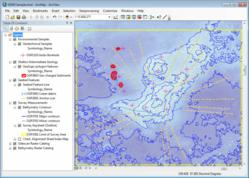 Example Seabed Survey Data in ArcGIS