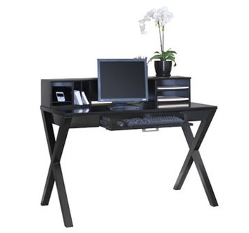 Kathy Ireland Home Designs Range From Traditional To Modern Styles Like The Worx Office Collection Shown Is Writing Desk In Black