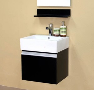 Compact 20 Inch Wall Mounted Bathroom Vanity From Bellaterra Home ...
