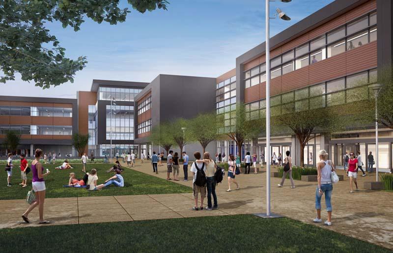 San Marcos High School Reconstruction Rendering