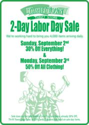 Thrift Town Labor Day Blowout 2-Day Sale