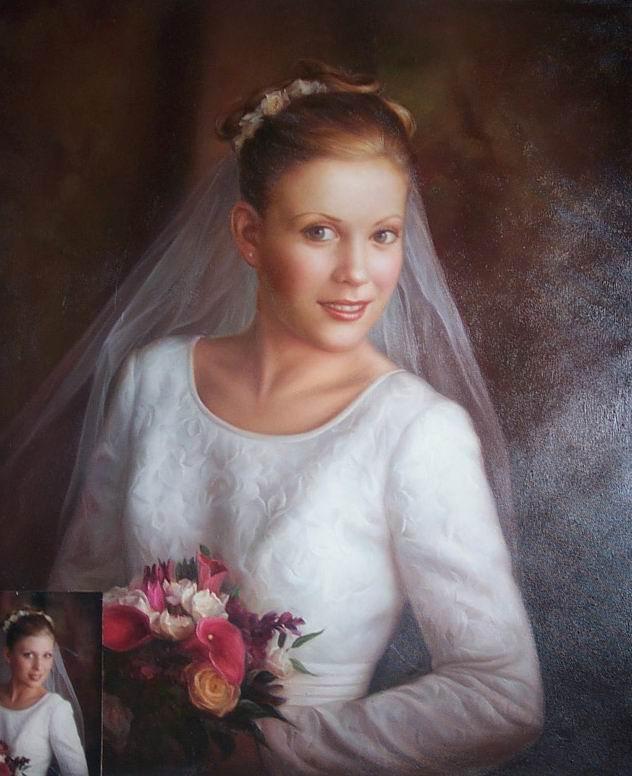 Wedding Portrait Oil Painting Family Portraitscustom Portraits Pets Relistic Landscape