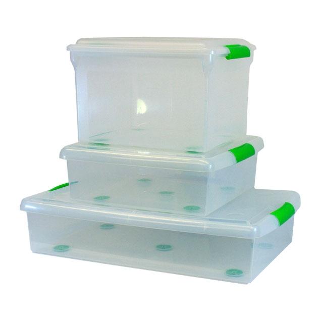 IRIS Clear Plastic Storage Containers Image Of Iris Media ...