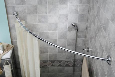 Curved Shower Rod In Polished Chrome By Barclay