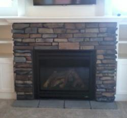 Trilite Stone Manufactured Stone Fireplace