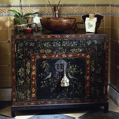 A Selection Of Hand Painted Bathroom Vanities To Add Whimsy And Charm To The Bathroom Is