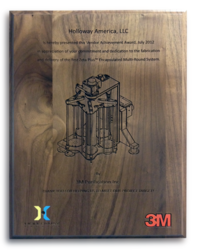 For custom steel fabrication, the pressure tanks company HOLLOWAY earned this award from 3m.