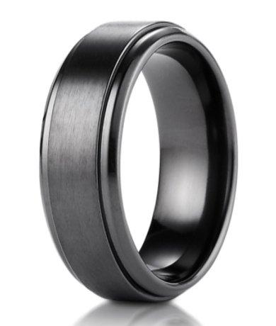 Black Anium Benchmark Men S Wedding Ring