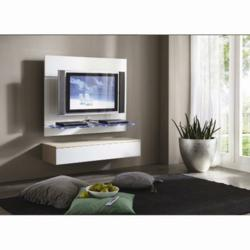 Furnitureinfashion Has Brightened Up Its Collection Of Tv Stands By Launching A New And Contemporary Wall Mounted Orion White Lcd Unit