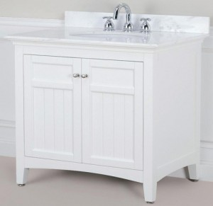 Nice White Bathroom Vanities Concept