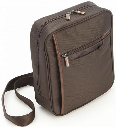 Korchmar Kusa Mens Day Bag Made In Usakorchmar Light Weight Shoulder Denier Nylon Trimmed Usa Cowhide Leather