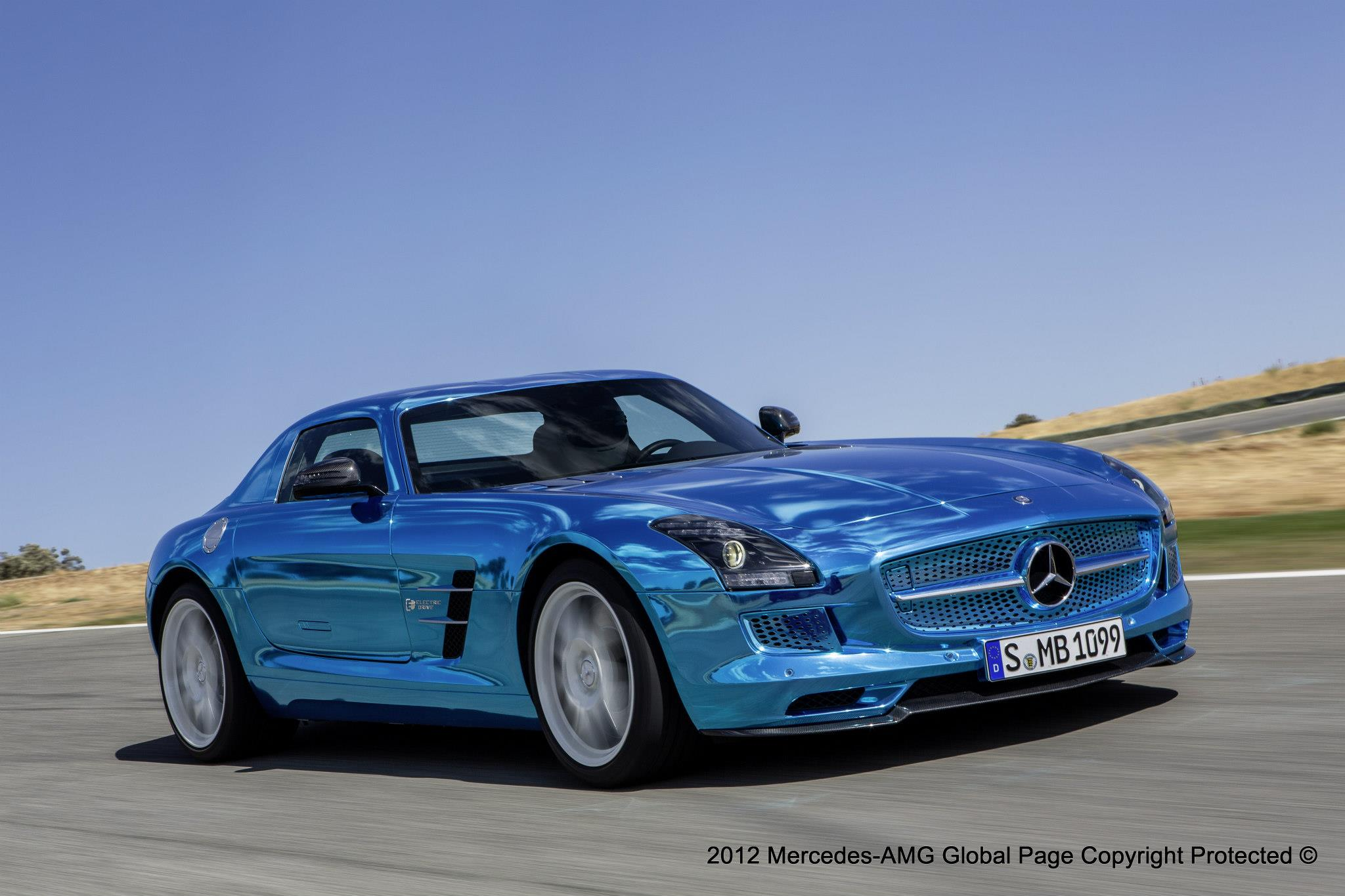 Paris Motor Show Mercedes Benz Sls E Drivefirst Look At The Newest Supercar From Fastest Production Electric Car