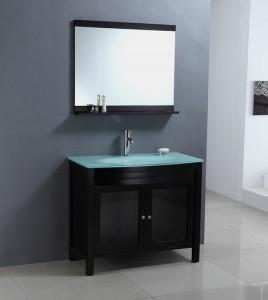 Wa2140 Gl Topped Black Bathroom Vanity From Legion